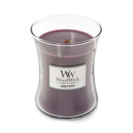 Woodwick Świeca owalny wazon , Ciemny mak, 275 g
