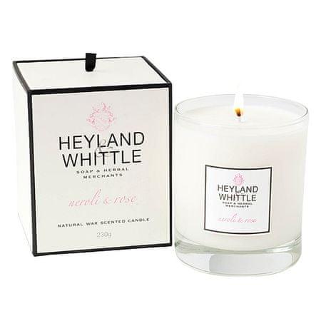 Heyland & Whittle Świeca szklana waza , Neroli i róże, 230 g