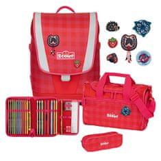 Scout Cserkésziskola készlet, 4 darabos - Ultra, piros kockák