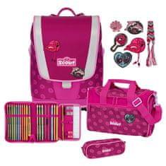 Scout Školní set , 4-dílný - Ultra, růžová sedmikráska
