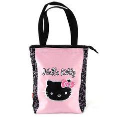 Hello Kitty Nákupní taška , černo/růžová, s motivem