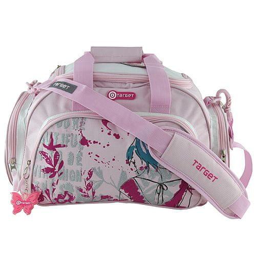Target Cestovná taška Target, motív Fly, ružová