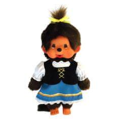 Monchhichi Pluszowe , Dziewczynka, bawarski kostium, 20 cm