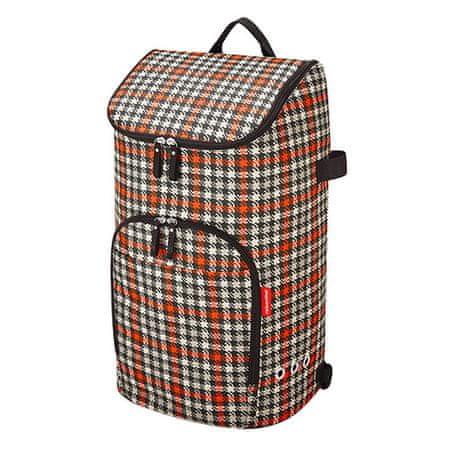 Reisenthel bevásárló hátizsák, Fekete és piros, ötvenes évek motívumával citycruiser táska