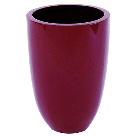 Europalms Doniczka , Doniczka z laminatu aluminiowego, 49 cm, błyszczący-czerwony