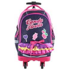 Target Školní batoh trolley t, Candy Flower, fialová