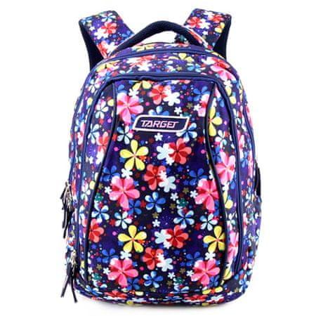 Target Iskolai hátizsák 2in1 , Színes virágok, kék színű