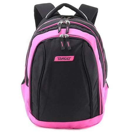 Target Plecak szkolny 2w1 , Różowo-czarny