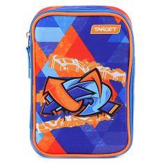 Target Školský peračník s náplňou , Graffiti, jednoposchodový, modro/oranžový