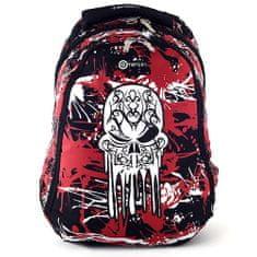 Target Športový pecniak , čierno-červený, motív lebky