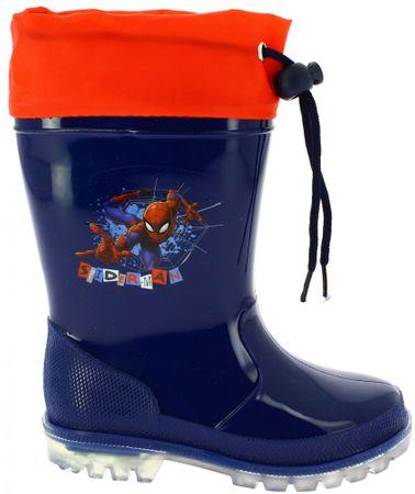 Disney by Arnetta chlapčenské svietiace gumáky Spiderman 23 modré