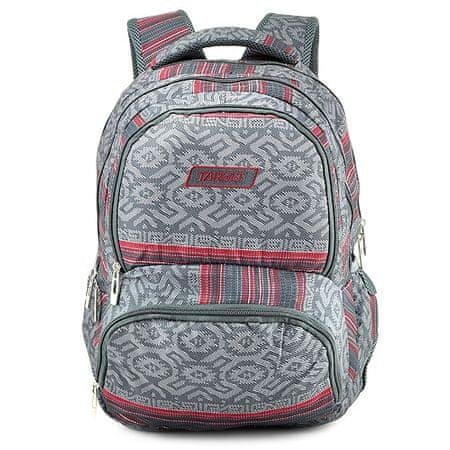 Target Docelowy plecak szkolny, Czerwono-szary z wzorem