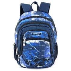 Target Ciljni nahrbtnik šole, Modra z vzorcem
