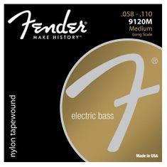 """Fender Struny pro baskytaru , Tvrdost 058""""/110"""""""