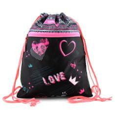 Target Športový vak , Love, ružovo/čierny