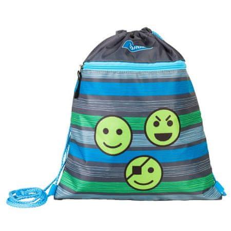 Target Cél sporttáska, Smiley, szürke, színes csíkokkal