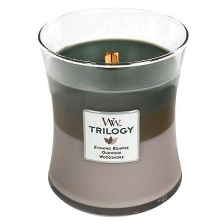 Woodwick Świeca Trilogy , Przytulna kabina z bali, 275 g