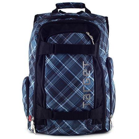Target Plecak sportowy, czarno-niebieski, motyw kostki