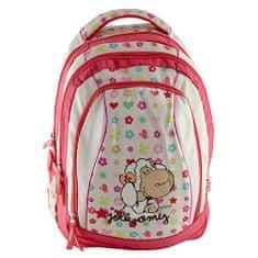 Nici Školní batoh 2v1 , 2v1, béžovo-růžový