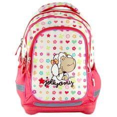 NICI Iskolai hátizsák , sárga-rózsaszín