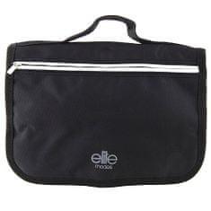 Elite Models Taška kozmetická , čierna, sivý prúžok