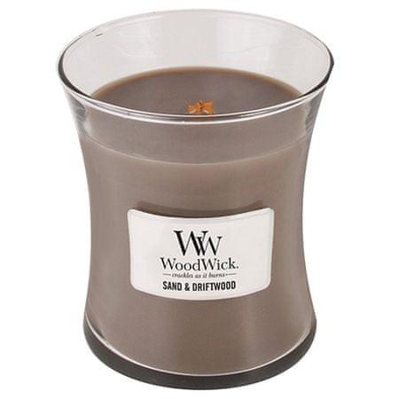 Woodwick Świeca owalny wazon , Piasek i drewno korzeniowe, 275 g