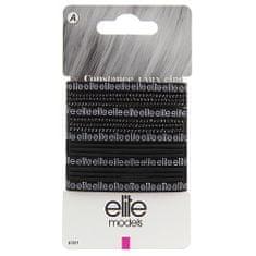 Elite Models Gumičky do vlasů 17 ks ASST, Černé, průměr 70mm