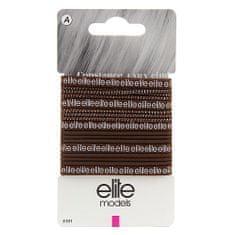 Elite Models Gumičky do vlasů 17 ks ASST, Hnědé, průměr 70mm