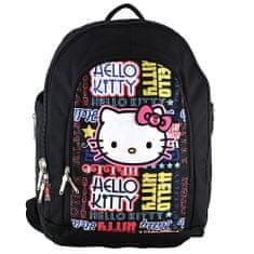 Hello Kitty Iskolai hátizsák , fekete feliratos