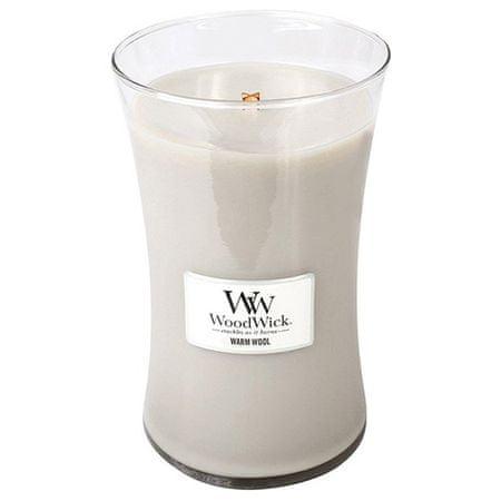 Woodwick Gyertya ovális váza , Meleg gyapjú, 609,5 g