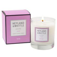 Heyland & Whittle Gyertyaüveg váza , Rózsa, 220 g