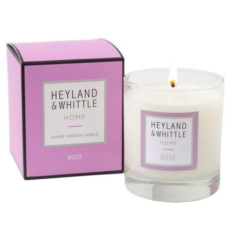 Heyland & Whittle Świeca szklana waza , Róża, 220 g