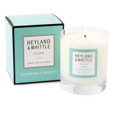 Heyland & Whittle Gyertyaüveg váza , Clementine és Prosecco, 220 g