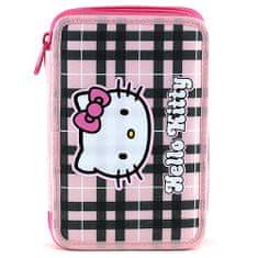 Hello Kitty Šolska svinčnica s polnilom, roza-črne kocke