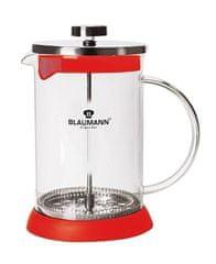Blaumann Konvička na čaj a kávu French Press 800 ml červená