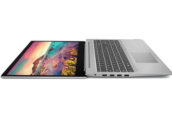 štýlový moderný notebook Lenovo IdeaPad s145-15API touchpad web kamera 15.6 displej full hd amd ryzen procesor elegantný dizajn numerická klávesnica čítačka kariet dolby audio zvuk wifi