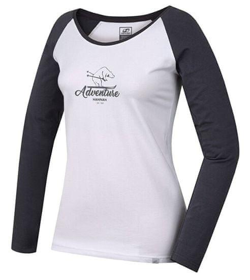 Hannah Dámske tričko s dlhým rukávom FABRIS bright white/castlerock (Veľkosť 36)