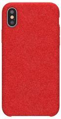BASEUS Original Series zaštitna maskica Alcantara za iPhone XS Max, crvena (WIAPIPH65-YP09)