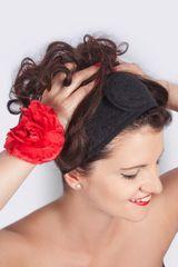 MaryBerry Černá kosmetická čelenka | MaryBerry