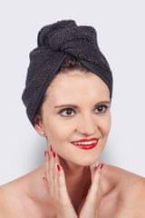 MaryBerry Elegantní černý turban na vlasy | MaryBerry