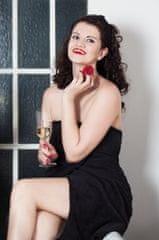 MaryBerry Dámský černý krajkový župan & kilt do sauny | MaryBerry Velikost: S-M-L