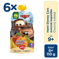 Hami Disney Cars ovocná kapsička Ovocný koktail 6 x 110 g