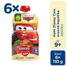 Hami Disney Cars ovocná kapsička Jablíčko 6x110 g