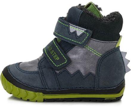 D-D-step dětská zimní obuv 23 modrá