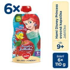 Hami Disney Princess ovocná kapsička Jabĺčko 6 x 110 g