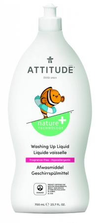 Attitude detergent za pomivanje otroške posode, brez vonja, 700 ml