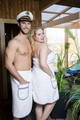 MaryBerry Pánský bílý kilt do sauny | MaryBerry Velikost: M-L