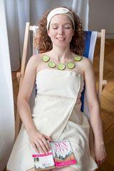MaryBerry Dámský krémový květinový župan & kilt do sauny | MaryBerry Velikost: S-M-L