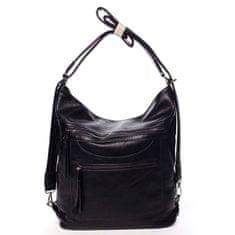 Romina & Co. Bags Veľká pohodlná koženková kabelka Samantha, čierna