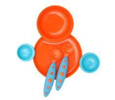 Boon blagovaonski set za djecu plavo-narančasta